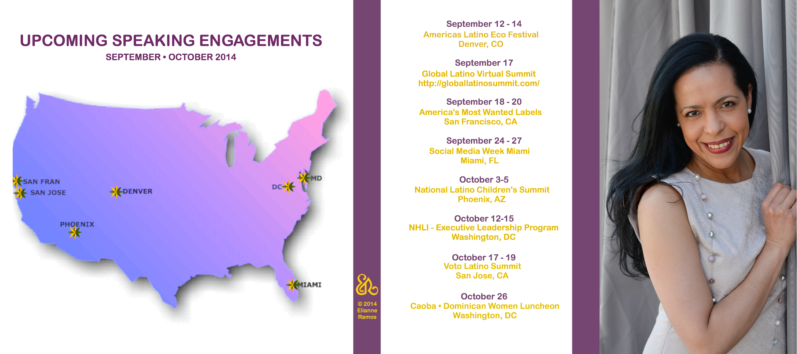 Coming up - Speaking Engagements: September & October 2014